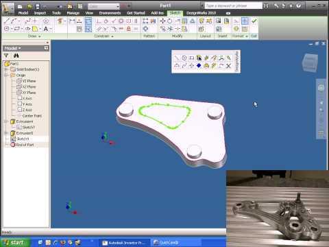 Dezignworks 10 for Autodesk Inventor 2010 - Reverse Engineering a Prismatic Part