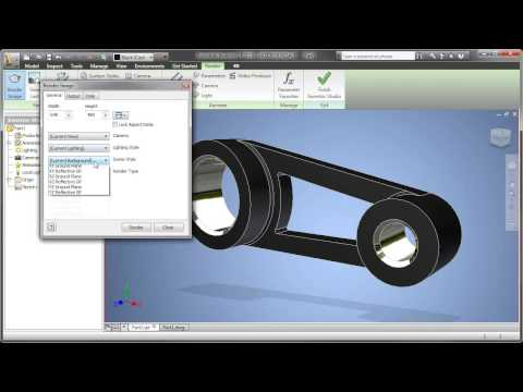 Part 6: AutoCAD Inventor LT Suite - Create Renderings with Inventor Studio