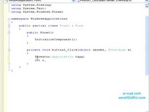 Inventor API Customization Tutorial using C# - Basics