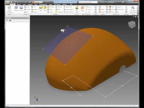Autodesk Inventor Quick Tip - Axis Normal to Surface