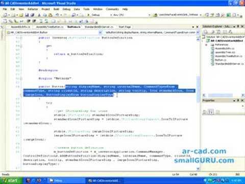 Develop Autodesk Inventor Addins using C# - Part2b