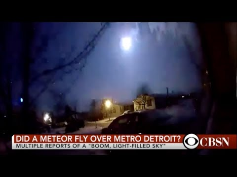 METEOR LIGHTS UP THE SKY OVER MICHIGAN 1-16-2018