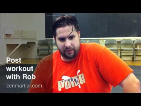 Post-workout with Rob at Zen Martial Arts Sacramento