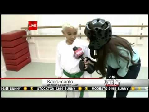 Good Day Sacramento visits Isshinryu Karate Champion at Zen Martial Arts