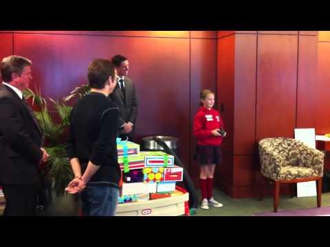 Grace Visits Shriner's Hospital for Children in Sacramento