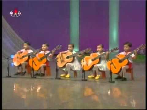 """[Guitar] Cha Sun Chon et al. - """"Our Kindergarten Teacher"""" {DPRK Music}"""