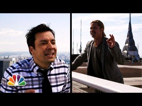"""""""Yodel"""" com Jimmy Fallon e Brad Pitt"""