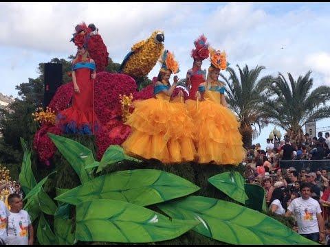 Festa da Flor Funchal Madeira 2015 cortejo. Flower Festival Parade Blumenfestzug