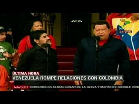 Venezuela rompe relaciones diplomáticas con Colombia