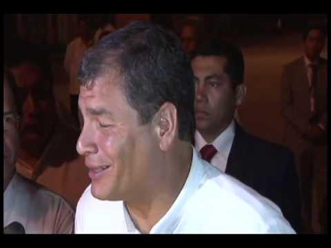 Entrevista al Sr  PresidenteRafael Correa  en La Habana