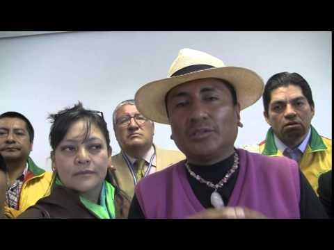 Palabras del Asambleísta  Rodrigo Collaguazo después de la rueda de prensa