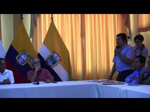 Reunión del Sr  Álex Hurtado Gobernador del Napo con miembros  de Aldea