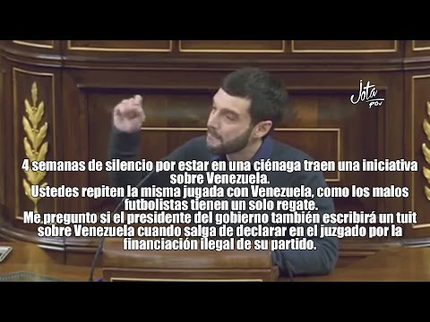 Reino de España: Bustinduy: Tras 4 semanas de silencio por estar en una ciénaga, traen una iniciativa sobre Venezuela