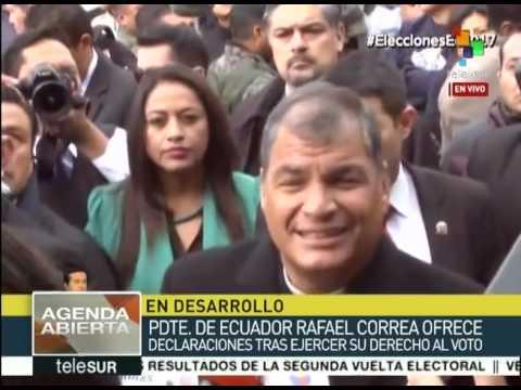 Llama pdte. Correa a votar a los ecuatorianos con amor a la patria