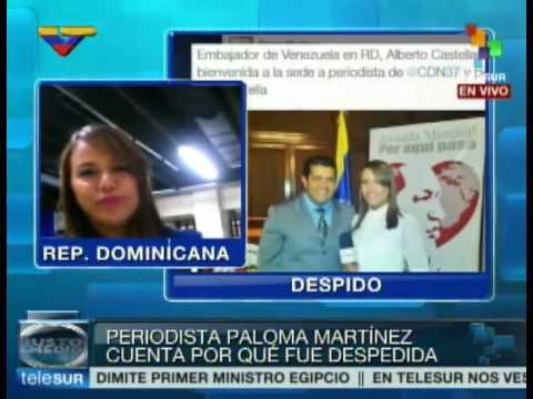 Directora TV dominicana irrespeta a Maduro y despide a periodista por foto con embajador venezolano