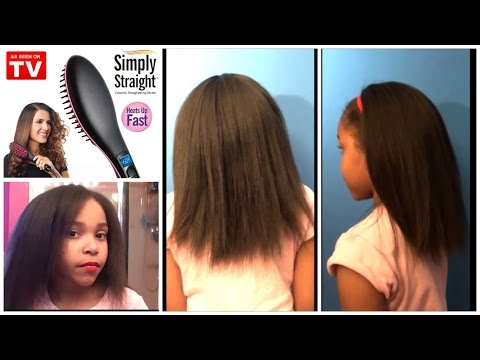 REVIEW USING THE SIMPLY STRAIGHT BRUSH RESULTS ON DAUGHTERS HAIR