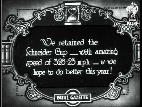 To Keep That Schneider Cup (1929)