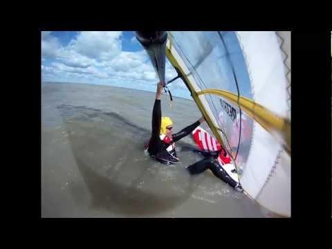Windsurfing, Light Wind Water Start Method, Using the Mast for Leverage