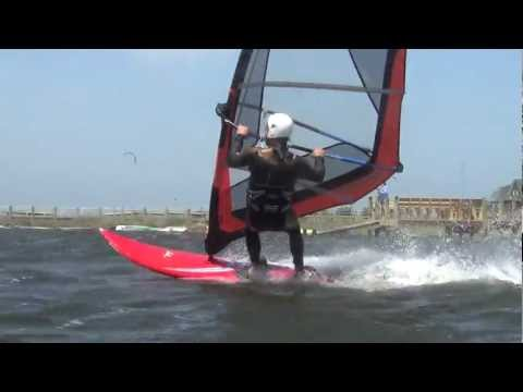 Windsurfing, Cape Hatteras, North Carolina, Jumps, Jibes, April 26, 2012, No Frame blending
