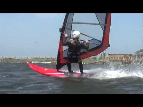 Windsurfing, Cape Hatteras, North Carolina, Jumps, Jibes, April 26, 2012, No Frame blending