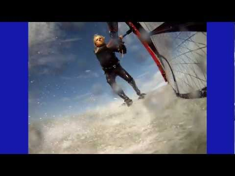 Windsurfing, Blue Lagoon, Lake St. Clair, Michigan, October 2, 2011, Rain-X