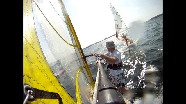 Windsurfing Sept 21, 2010 - Cass Lake