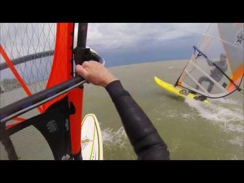 Windsurfing Lake St. Clair, Spring 2015