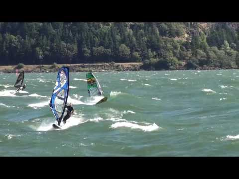 Windsurfing, The Hatchery, Columbia River Gorge, Loops, Jumps (July 22, 2013)