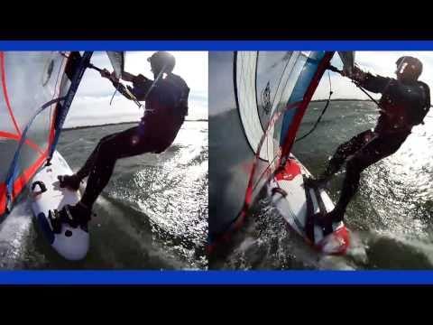 Windsurfing Cass Lake, Michigan, October 27, 2010
