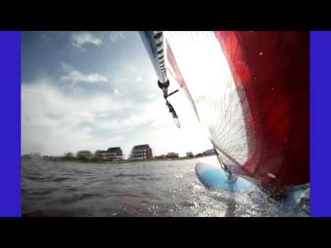 Windsurfing, Duck Jibes, Cape Hatteras, NC, April 2011