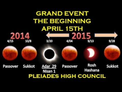 Grand Event -- The Beginning -- April 15th Blood Moon -- Pleiades