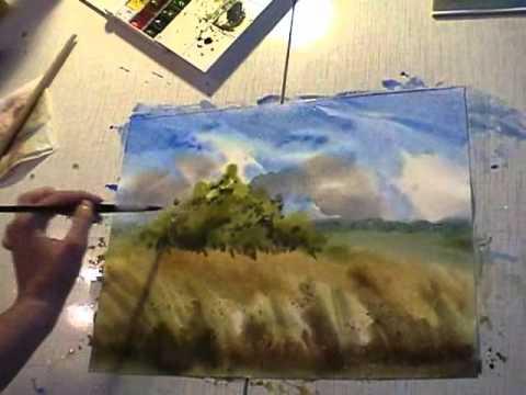 water color landscape demo