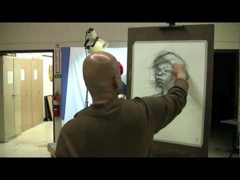 30 Minute Charcoal Portrait Demo by Vilas Tonape