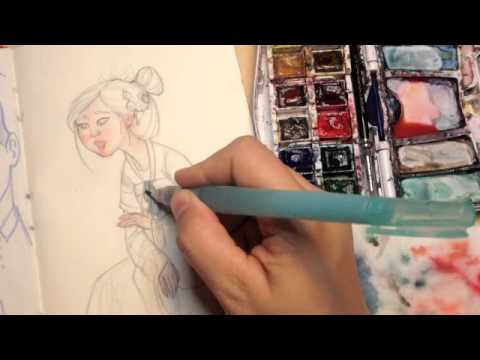Watercolor Sketching with Waterbrush