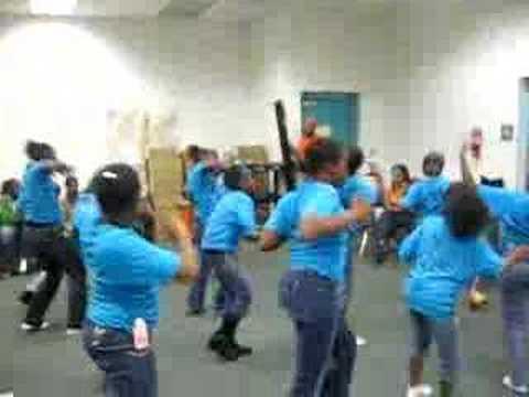 Overtown kids doing Haitian Dance