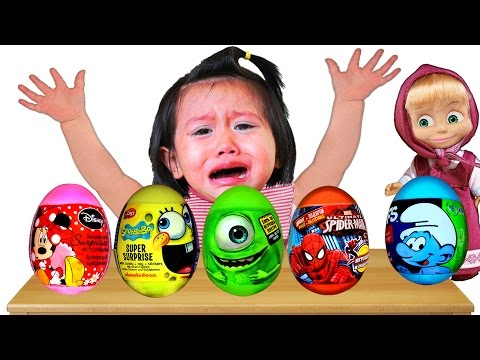 Bad Baby crying and learn Colors with Surprise Eggs- Colors Nursery Rhymes Song Collection