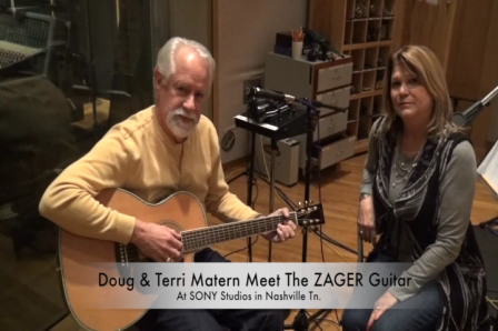 Terri Matern and Doug endorsed by ZAGER Guitars