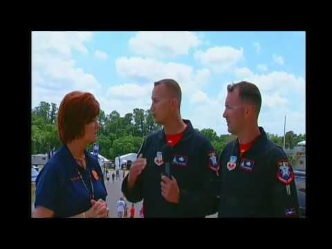 14040606 E1  Field Interviews Announcer Stand - Lori - F 22 Raptor Crew