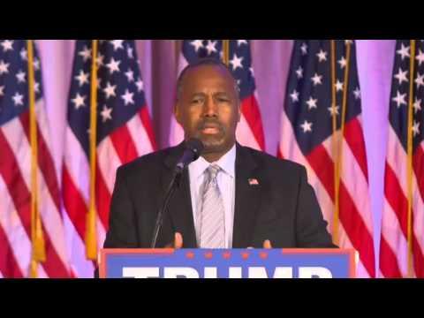 Ben Carson Endorses Donald Trump Press Conference