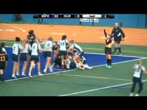 Tina Hansen scores for St.FX in 2012 CIS women's rugby final