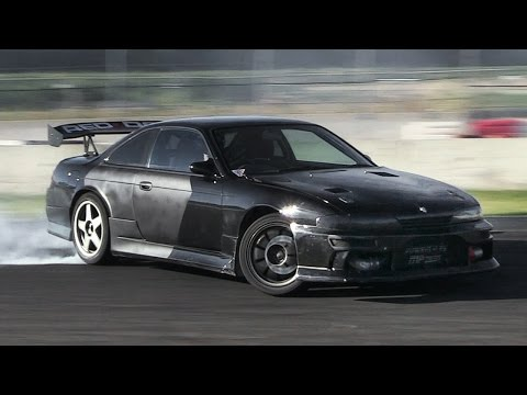 Nissan Silvia S14 with Skyline GT-R Engine Sound & Drift - Nissan RB26DETT Swap