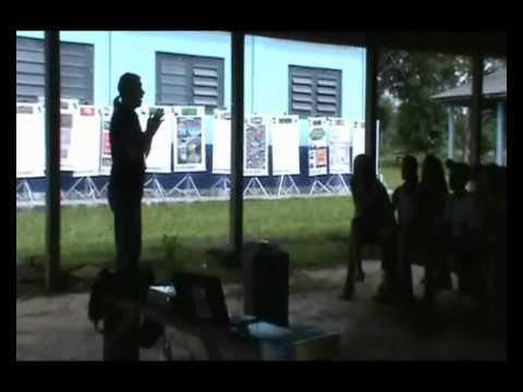Exposição Oficina UHE Teles Pires na Escola Municipal São Pedro em Paranaíta/MT