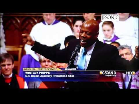 Wintley Phipps Sings I Believe at Washington Cathedral Obama's Presidential Inauguration