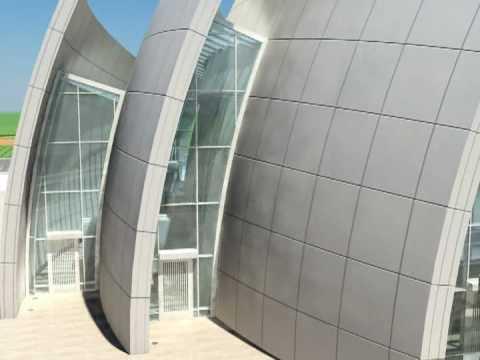 3ds max Jubilejní kostel animace architekt Richard Meier