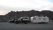 1969 1300 pickup at Hoover Dam 2009