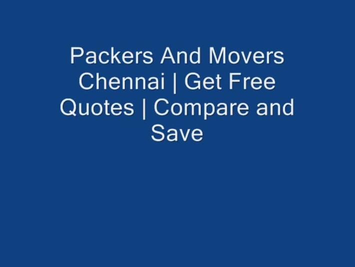Local Shifting in Chennai