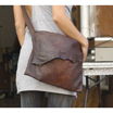 Kisim Chocolate Leather Handbag