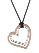 18K Rose Gold over Sterling Silver Aya Azrielant Signature Heart Pendant - SS-4012RS