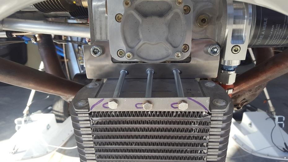 Oil cooler fitment