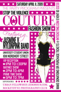 Stop the violence fashion show flyer April 11th